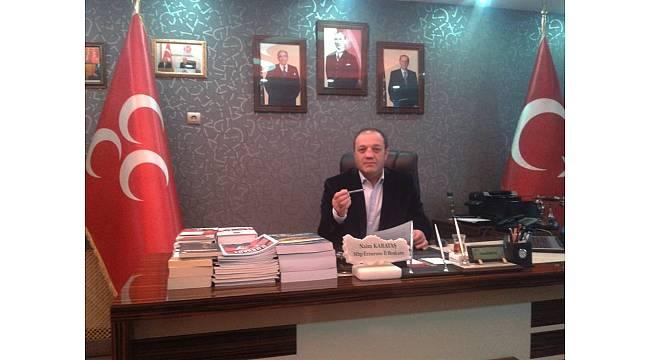 """MHP İl Başkanı Karataş: """"Cumhur İttifakı Erzurum'da büyük bir başarıya imza atmıştır"""""""
