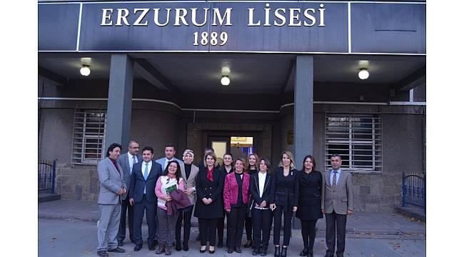 Milli Eğitim Bakanı Ziya Selçuk'un eşi Rana Selçuk Erzurum'da eğitim müzesi açılışı yaptı