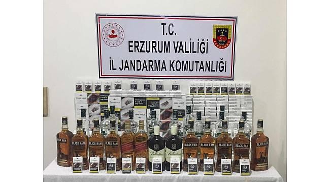 Valize saklanmış 102 şişe kaçak alkol ele geçirildi