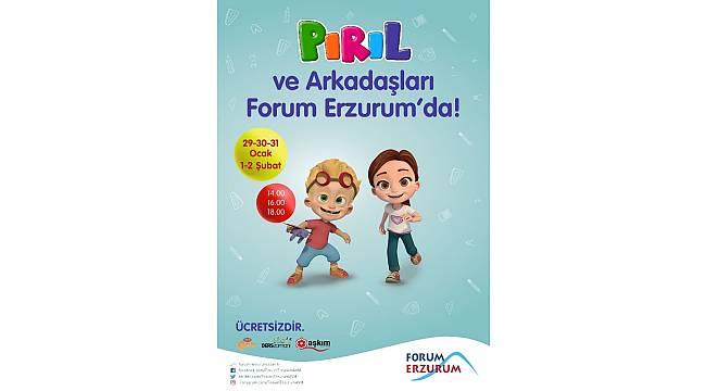 Pırıl ile matematiğin renkli dünyası Forum Erzurum'da