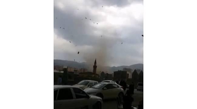 Erzurum'da korkutan hortum